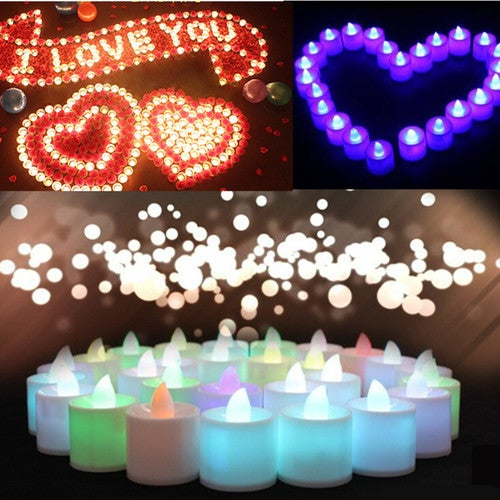 1Pcs Flameless Tea Light Wedding Party Flickering Flicker LED Candle Tealight