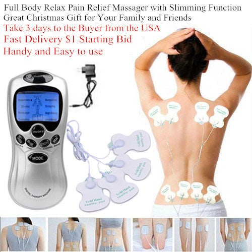 Great Christmas Gift for Your Family and Friends!!! Full Body massage Shaper Slimming Tens Acupuncture Digital Therapy Massager
