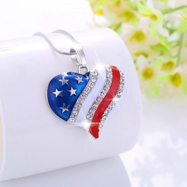 Silver-plated Heart-shaped Necklace Fashion Jewelry For Female