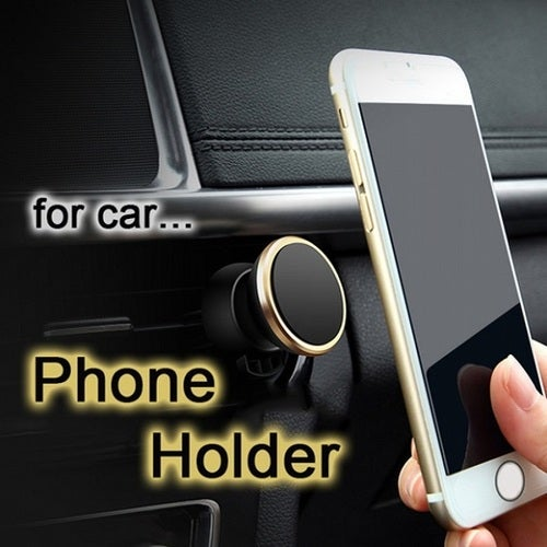 Magnetic Phone Holder Vehicle Car Mounted 360 Degrees Revolving Smart Phone Dashboard Stand for all Mobile
