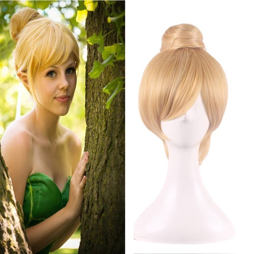 Golden single contract styling short hair wig