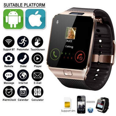 New Touch HD Screen Smart Watch Bluetooth Camera Wrist Watch SIM Card Smartwatch