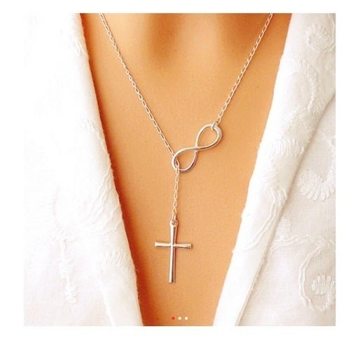 Eco-friendly Infinity Cross Necklace - Faith Forever Necklace