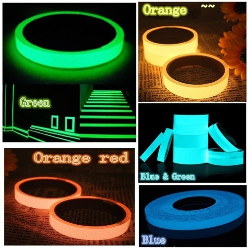Home Office Stage Warning Luminous Adhesive Tape Fluorescent Light Storage Adhesive Tape PVC Luminous Tapes 4 meters