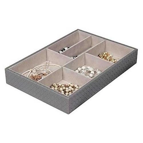 Home Basics DR49342 6 Compartment New Jewelry Organize