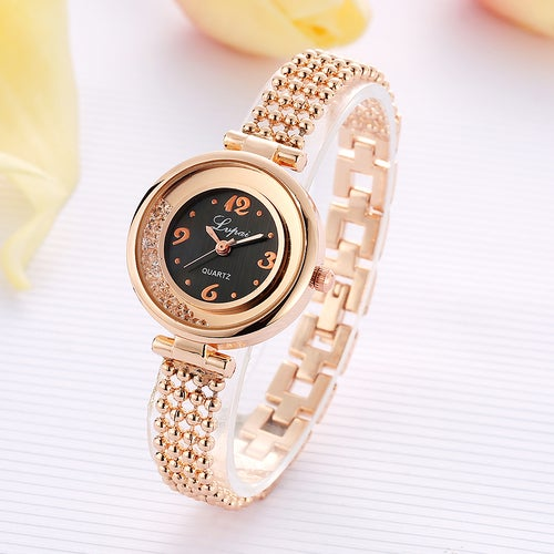 LVPAI Luxury Casual Crystal Gold Watches Women Fashion Dress Business Ladies Clock