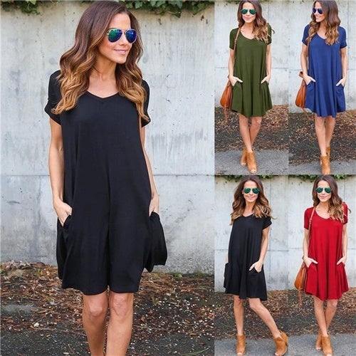 08d72576a1 Summer Casual Vestidos T Shirt Dress Women Fashion S...