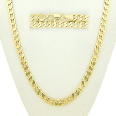 14K Gold Filled Cuban Link Chain 24